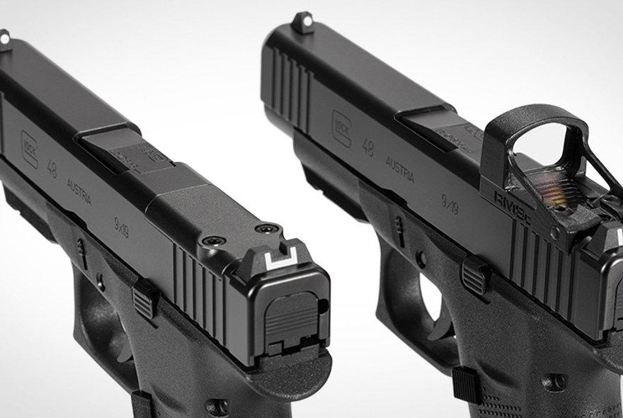 GLOCK 43X MOS und GLOCK 48 MOS jetzt ab Werk mit Shield Sights RMSc erhältlich